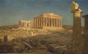 Фотографии Картина Руины Frederic Edwin Church, Parthenon
