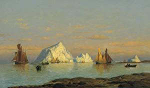 Фото Живопись Корабли Парусные William Bradford, Fishermen off the Coast of Labrador