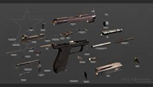 Картинки Пистолеты Русские GSh-18, Fully disassembled