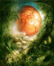Картинка Планета Фантастический мир