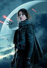 Картинки Изгой-один. Звёздные войны: Истории Воители Jyn Erso Девушки