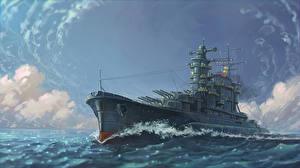 Картинка Корабль Рисованные Армия