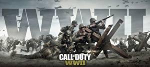 Картинка Солдаты Винтовки Call of Duty: WWII Война