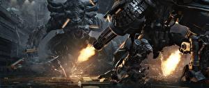 Фото StarCraft 2 Чудовище Пулеметы Стрельба Игры 3D_Графика