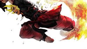 Обои Street Fighter Парни Прыжок Ken Игры