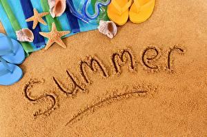 Картинки Лето Песок Слово - Надпись Английский