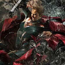 Обои Супергёрл герой Герои комиксов Несправедливость 2 Фэнтези Девушки