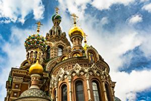 Фотография Храмы Санкт-Петербург Россия Купол Church of the Savior on Blood Города