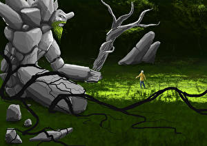 Картинки Тини DOTA 2 Чудовище Игры