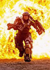 Обои Том Круз Воины Пламя Грань будущего Бег Кино Знаменитости