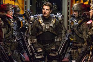 Картинки Tom Cruise Воины Мужчины Грань будущего Фильмы Знаменитости