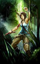 Фотографии Tomb Raider 2013 Лара Крофт Девушки
