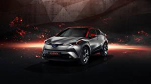 Картинка Toyota Серебристый 2017 C-HR Hy-Power Concept Автомобили