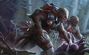 Обои Warhammer 40000 Воины Орки Фэнтези