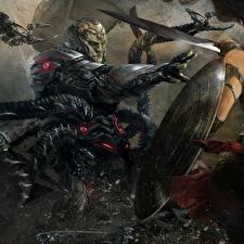 Обои Воины Несправедливость 2 Щит Игры