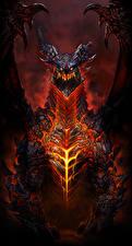 Картинка WoW Драконы Deathwing Игры Фэнтези