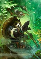 Фотография WoW Бамбуковый медведь Игры Фэнтези