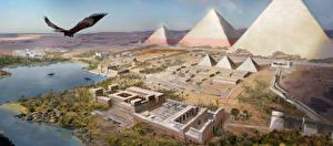 Картинка Assassin's Creed Origins Египет Пирамиды компьютерная игра