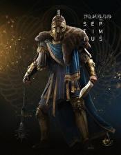 Обои Assassin's Creed Origins Воины Мечи Septimius Игры