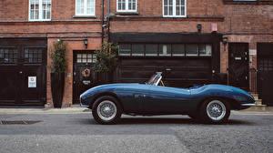 Обои Aston Martin Ретро Сбоку Кабриолет Синий Металлик 1953 DB2-4 Bertone Spider Bertone Машины