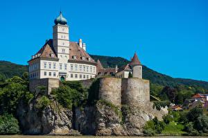 Картинка Австрия Замки Скала Schonbuhel Castle
