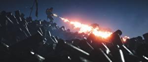 Картинки Battlefield 1 Солдаты Пламя Игры 3D_Графика