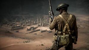 Картинки Battlefield 1 Солдаты Снайперская винтовка Вид