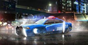 Фотографии Бегущий по лезвию 2049 Додж Полицейские Синий Charger LX