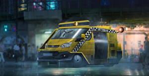 Картинка Бегущий по лезвию 2049 Форд Желтый Transit