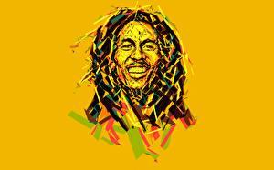 Обои Bob Marley Векторная графика Цветной фон Знаменитости
