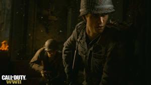 Картинки Call of Duty: WWII Солдаты Военная каска