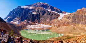 Фотографии Канада Парки Горы Озеро Джаспер парк