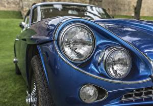 Картинки Вблизи Фары Синий Gran Turismo, Jensen C-V8 MKII машины