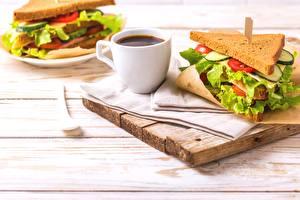 Фотография Кофе Сэндвич Чашка Завтрак