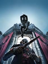 Картинка Dishonored Воины Пистолеты Прыжок Игры