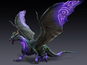 Картинка Драконы Bladestorm Крылья 3D_Графика Фэнтези