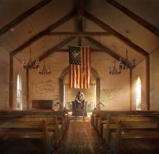 Фотография Far Cry 5 Церковь Флаг Игры