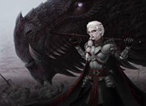 Картинка Игра престолов (телесериал) Драконы Воины Фан АРТ Броня Valar Morghulis, War of the Five Kings Фильмы