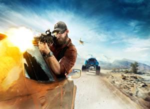 Фотографии Ghost Recon Wildlands Tom Clancy Мужчины Автоматы Стрельба Кепка Игры