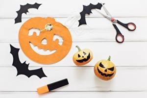 Обои Праздники Тыква Летучие мыши Хэллоуин Бумаги