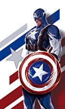 Картинка Герои комиксов Капитан Америка герой Щит