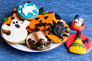 Обои Праздники Хеллоуин Печенье Дизайн Пища