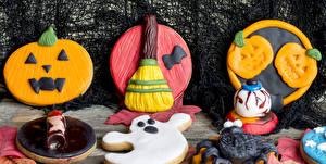 Фото Праздники Хеллоуин Выпечка Печенье Дизайн Еда