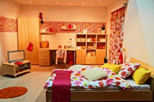 Фотография Интерьер Детская комната Дизайн Кровать