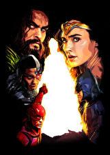 Картинка Лига справедливости 2017 Чудо-женщина герой Галь Гадот Флэш герои Бэтмен герой Jason Momoa (Aquaman). Ray Fisher (Cyborg) Фильмы
