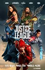 Обои Лига справедливости 2017 Чудо-женщина герой Флэш герои Бэтмен герой Галь Гадот Кино Знаменитости