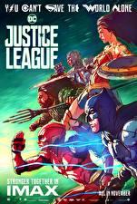 Фотографии Лига справедливости 2017 Чудо-женщина герой Флэш герои Бэтмен герой Галь Гадот