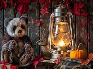 Картинка Керосиновая лампа Плюшевый мишка