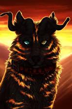 Фото Волшебные животные Рога Смотрит