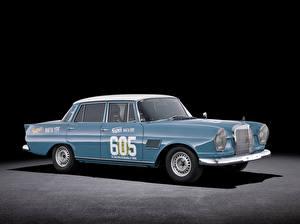 Картинка Mercedes-Benz Ретро Голубой Металлик 1963 300 SE Rally